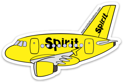 Spirit A 320 Sticker