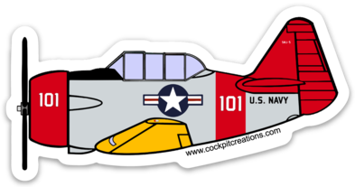 T-6 Texan 101 Sticker