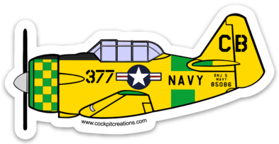 T-6 Texan DeWolf Sticker