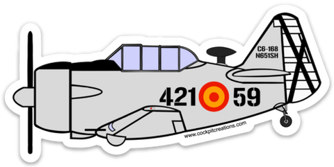 T-6 Texan Spanish Air Force Sticker-Large