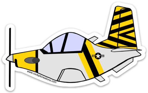 T-6 Texan 2 Retro Sticker