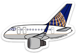 757 UAL Sticker