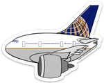 777 UAL Sticker