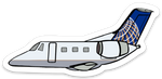 UAL Express EMB-145 Sticker