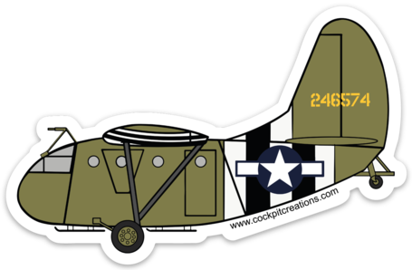 Waco CG-4A Sticker