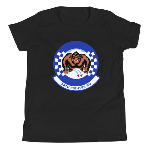 58Th Fighter Squadron Logo Youth T-Shirt