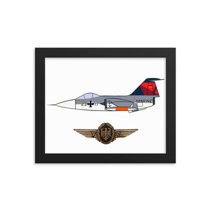 F-104 Luftwaffe Mother D Framed poster