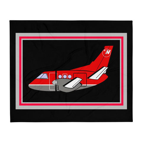 Saab 340 NW Airlink Throw Blanket