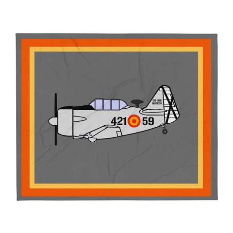 Spanish Air Force T-6 Throw Blanket
