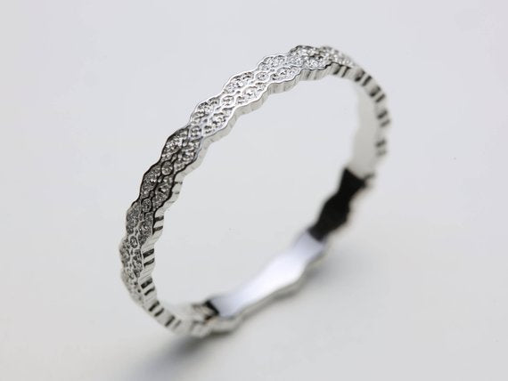 Stacking Narrow Lace Ring