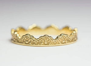 Stacking Lace Crown Ring