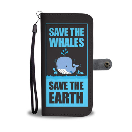 Save Whales Wallet Phone Case