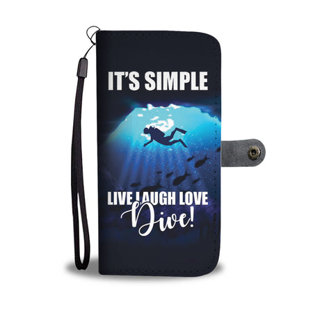 Diving Life Wallet Phone Case