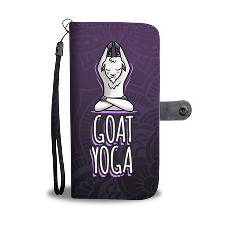 Goat Yoga Wallet Phone Case