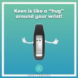 Keen bracelet is a hug on your wrist, helping you take control of trichotillomania or dermatillomania.