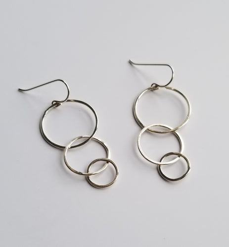 Triple Intersecting Hoop Earrings