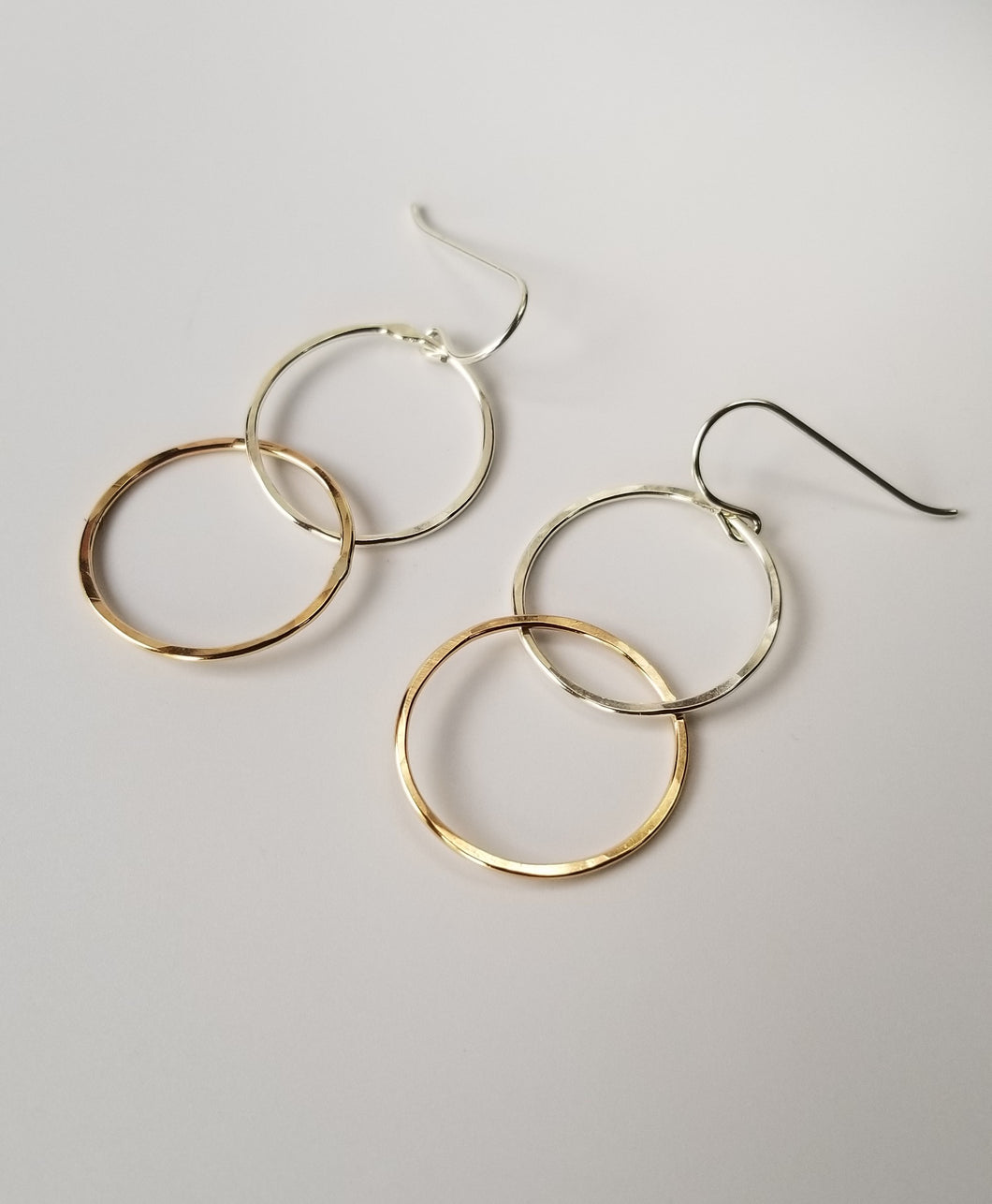Mixed Metal Bubble Earrings in Sterling Silver and 14 Karat Gold Fill 14/20