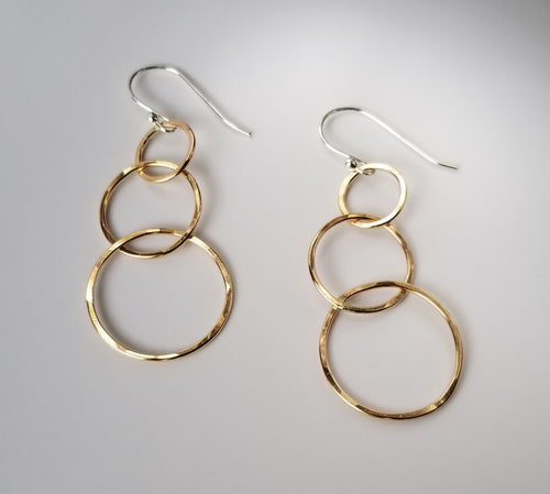 Triple Intersecting Hoop Earrings-Gold Fill