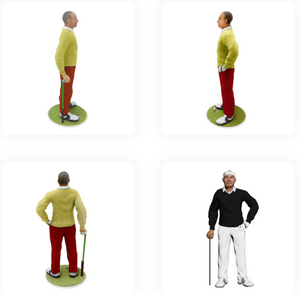 Golf Player Man - PetitMe 3D-Selfie-Figurine