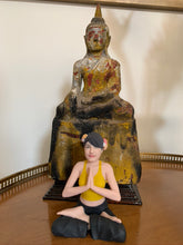 BBHF siting Yoga Woman Figurine