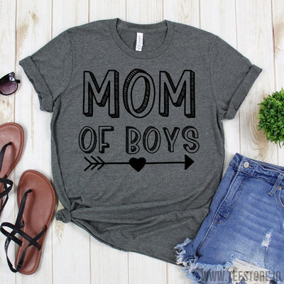 www.teestore.io-Boy Mama Mommy Tshirt - Boy Mom Shirt Raising Kids Love Sons - Mothers Day Gift - For Mom Of Boys Cute Tee - Mom Life Mommy Gift Tshirt Funny Sarcastic Humor Comical Tee | TeeStore.io