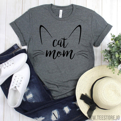 www.teestore.io-Cat Drawing Shirt - Cat Mom Shirt - Cat Mom Shirt - Cat Mama - Cat Drawing - Cat Mom Shirt - Cute Casual Outfit - Cat Lover Tee - Funny Gift for Cat Lovers Tshirt Funny Sarcastic Humor Comical Tee | TeeStore.io