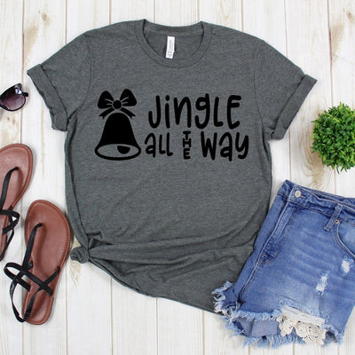 www.teestore.io-Christmas T Shirt - Jingle All The Way Christmas Bell - Christmas Tee Shirt - Christmas Tee - Christmas Shirt - Holiday Shirt Tshirt Funny Sarcastic Humor Comical Tee | TeeStore.io