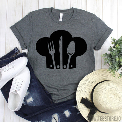 www.teestore.io-Cook Shirt - Chef Hat Spoon Fork Shirt - Cooking Shirt - Chef Gifts - Funny Baking Shirt - Cooking Shirt - Gift For Chef - Baker Shirt Tshirt Funny Sarcastic Humor Comical Tee | TeeStore.io