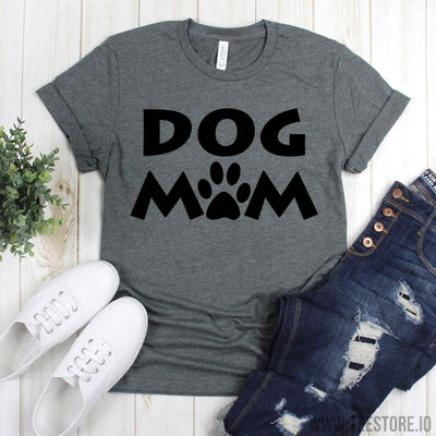 www.teestore.io-Dog Mom Shirt - Mom Life Shirt - Dog Mama TShirt - Dog Lover Gift - Rescue Dog Mom - T Shirt Gift For Mom Tshirt Funny Sarcastic Humor Comical Tee | TeeStore.io