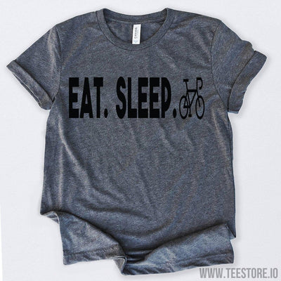 www.teestore.io-Eat Sleep Ride Recumbent Bike Shirt Tshirt Funny Sarcastic Humor Comical Tee | TeeStore.io