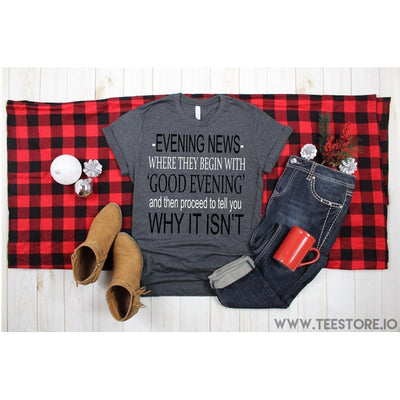 www.teestore.io-Evening News Where They Begin Tshirt Funny Sarcastic Humor Comical Tee | TeeStore.io Tshirt Funny Sarcastic Humor Comical Tee | TeeStore.io