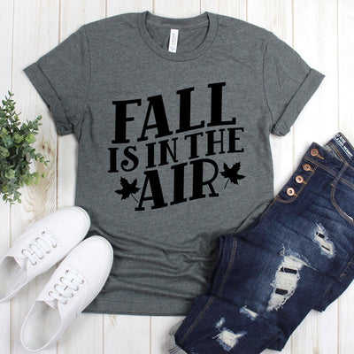 www.teestore.io-Fall Shirt - Fall Is In The Air Two Leaves - Fall Shirts - Fall T-shirt - Autumn Tee - Autumn T-shirt Tshirt Funny Sarcastic Humor Comical Tee | TeeStore.io