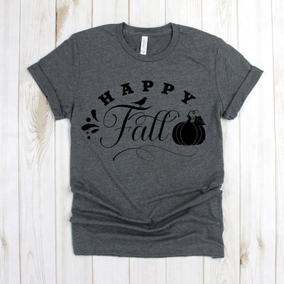 www.teestore.io-Fall Shirts - Happy Fall Bird Pumpkin - Autumn Shirts - Fall Tee Shirt - Fall T Shirt Tshirt Funny Sarcastic Humor Comical Tee | TeeStore.io