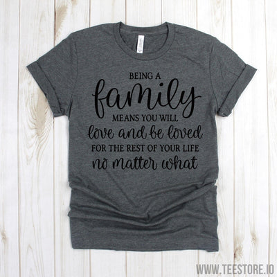 www.teestore.io-Farm Life Shirt - Being A Family Means You Will Love And Be Loved Shirt - Farmer Shirt - Farmers Shirt - Farmhouse Shirt - Windmill Shirt Tshirt Funny Sarcastic Humor Comical Tee | TeeStore.io