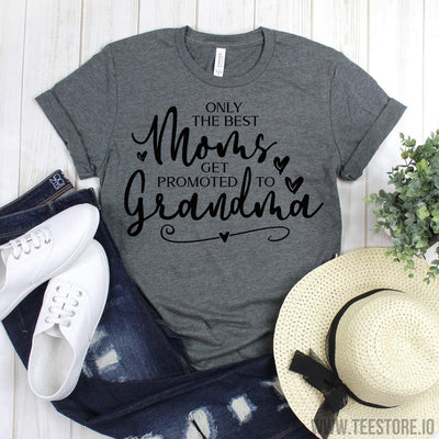 www.teestore.io-Farmhouse Shirt - Only The Best Moms Get Promoted To Grandma Tee Shirt - Farm Love Gift - Country Shirt - Mom Shirt - Grandma Tees Tshirt Funny Sarcastic Humor Comical Tee | TeeStore.io