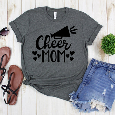 www.teestore.io-Football Life - Cheer Mom Six Hearts - Varsity Tee - Game Day Shirt - Football Shirt - Football Mom Shirt Tshirt Funny Sarcastic Humor Comical Tee | TeeStore.io