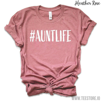 www.teestore.io-Gifts For Aunt - Aunt life - Aunt Shirts - Happiness is being an Aunt - Aunt Gifts - Auntie T Shirts - Gifts For Aunts - Aunt To Be Tshirt Funny Sarcastic Humor Comical Tee | TeeStore.io