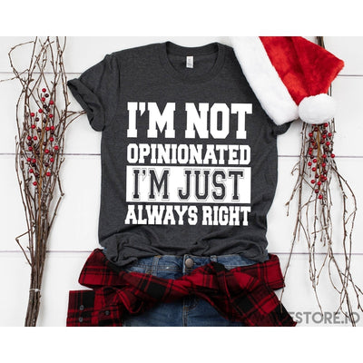 www.teestore.io-Im Not Opinionated Im Just Always Right Tshirt Funny Sarcastic Humor Comical Tee | TeeStore.io
