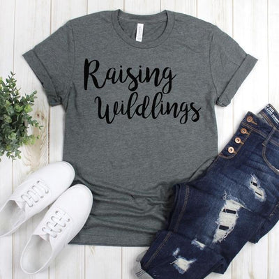 wwwteestoreio-Mom Life Shirt - Raising Wildlings Women's Mom Shirt - Mother's Day Gift