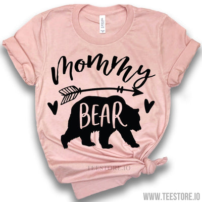www.teestore.io-Mommy Bear Shirt - Mom To Be Shirts - Mommy To Be Shirt - Bear Shirts - Gift For Mom Tshirt Funny Sarcastic Humor Comical Tee | TeeStore.io