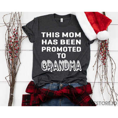 www.teestore.io-This Mom Has Been Promoted To Grandma Tshirt Funny Sarcastic Humor Comical Tee | TeeStore.io