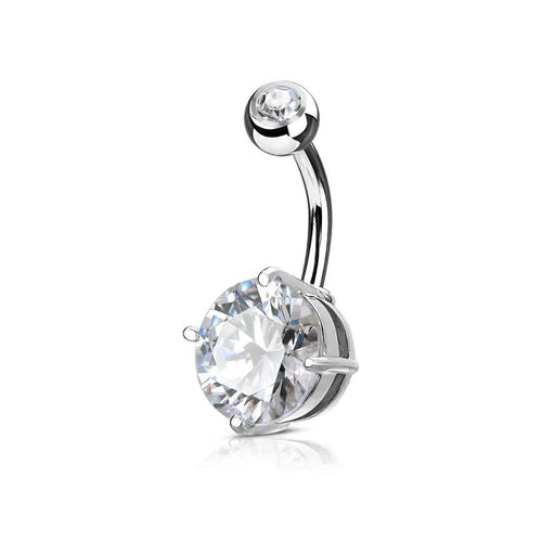 Round 10mm CZ Belly Ring