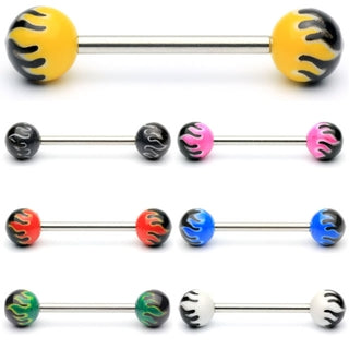 Fireball Barbell Tongue Ring