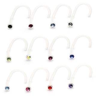 Flexible Single Gem Nose Stud
