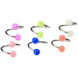 16 Gauge Glow in the Dark Twist Belly Ring