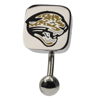 Jacksonville Jaguars NFL Top Down Belly Ring