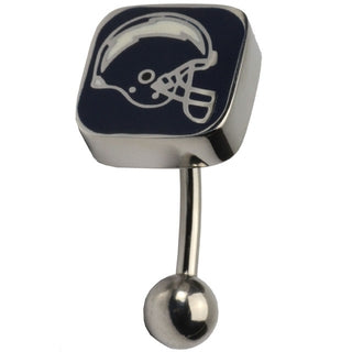 NFL Football San Diego Chargers Belly Ring