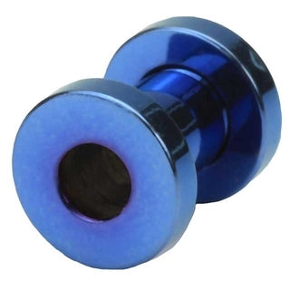 4 Gauge Screw Fit Flesh Tunnel Blue Titanium Plated