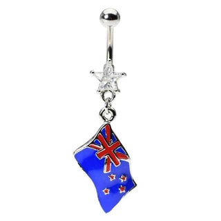Flag of New Zealand Belly Ring