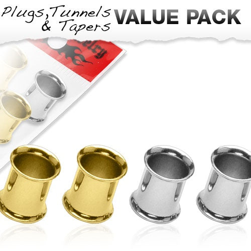2 Gauge 4 Pcs Value Pack Tunnels